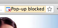 Chrome Popup Blocking