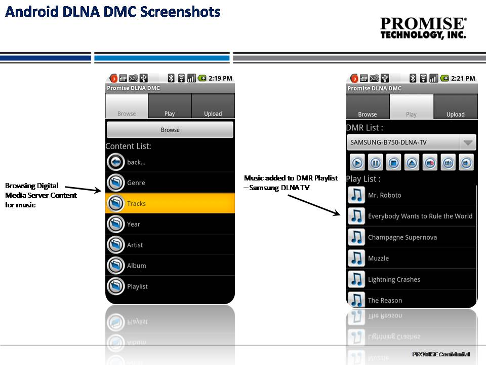 Promise Fusion Stream DLNA Digital Media Application for