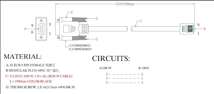 If You Would Like To Build Your Own Cable Follow The Pinout Diagram Below: Rj11 Rs232 Cable Wiring Diagram At Shintaries.co
