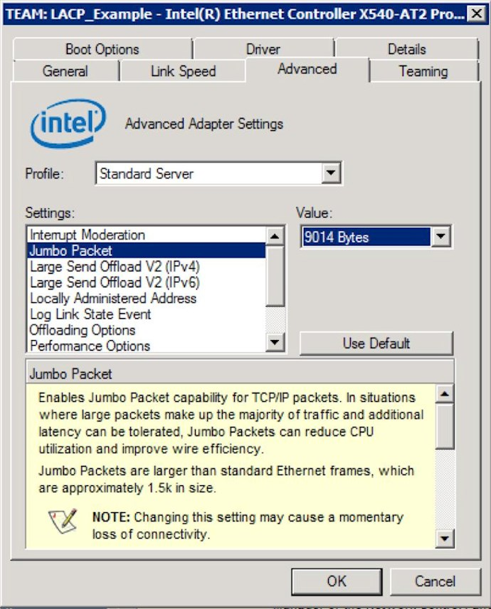 How to Enable LACP and Jumbo Frames on a SANLink2 10Gb Base-T